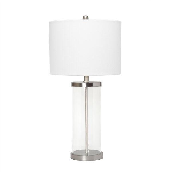 Cerise Brushed Nickel White One-Light Table Lamp, image 1