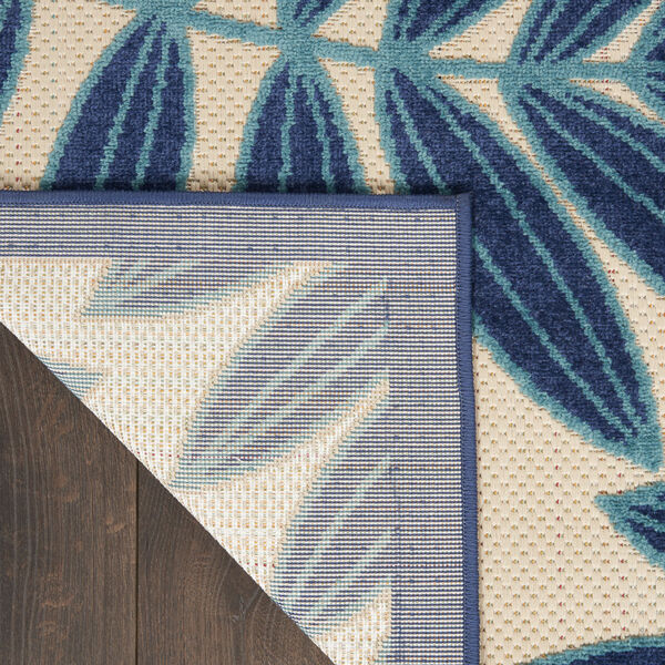 Aloha Navy Blue and White 6 Ft. x 9 Ft. Rectangle Indoor/Outdoor Area Rug, image 3
