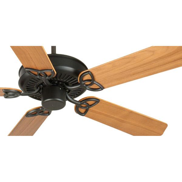CXL Flat Black Ceiling Fan with 52-Inch Custom Wood Walnut Blades, image 3