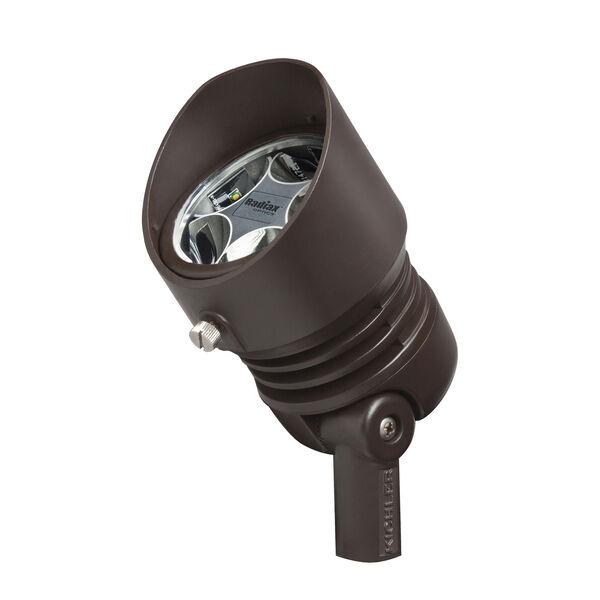 Bronzed Brass Line Voltage 3000 Kelvin Five-Light LED Wide Flood Landscape Light, image 1