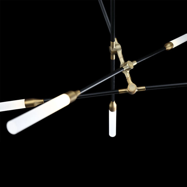 Houdini Black Aged Brass Six-Light LED Chandelier, image 5