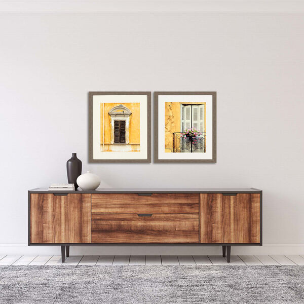 Tre Finestre Yellow Framed Art, Set of Two, image 1