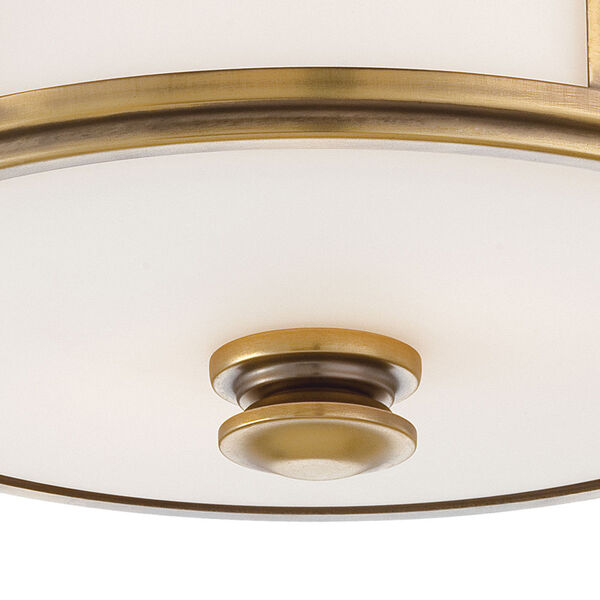 Harbour Point Liberty Gold Two-Light Flush Mount, image 2