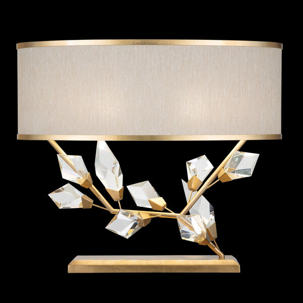 Foret Gold White 25-Inch Two-Light Table Lamp, image 1