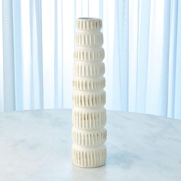Antique White 20-Inch Totem Vase, image 2