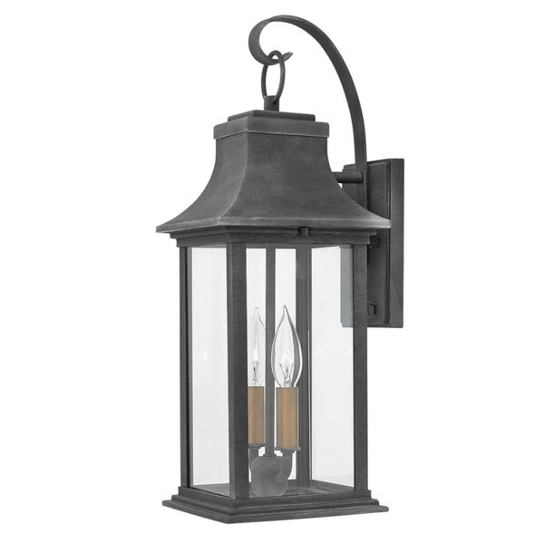 Adair Aged Zinc Two-Light Outdoor Wall Mount, image 1