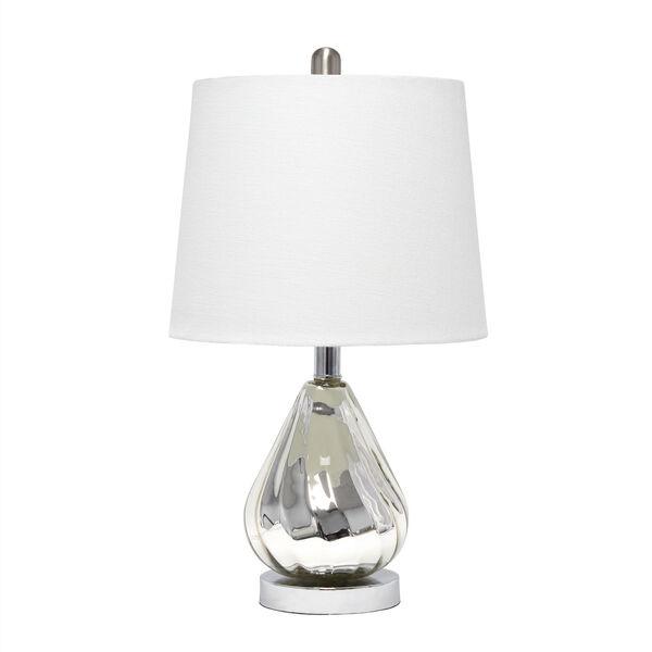 Cerise Chrome White One-Light Table Lamp, image 1