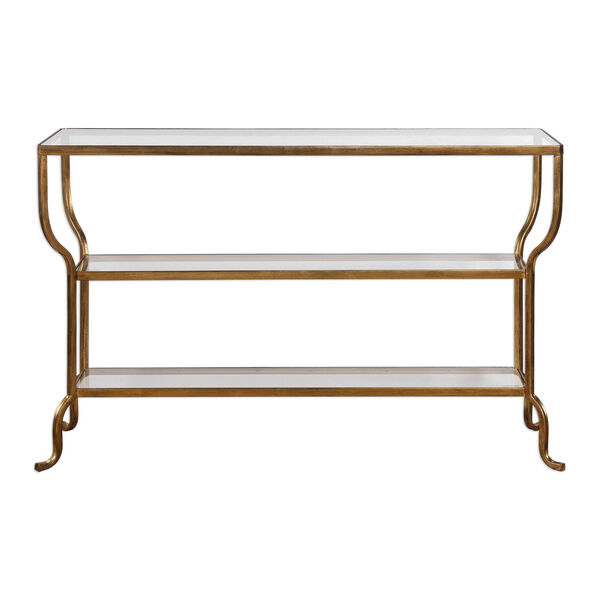 Deline Gold Console Table, image 1