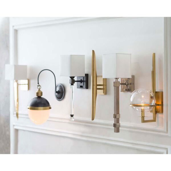 Classics Oil Rubbed Bronze Six-Inch One-Light Wall Sconce with Crystal, image 2