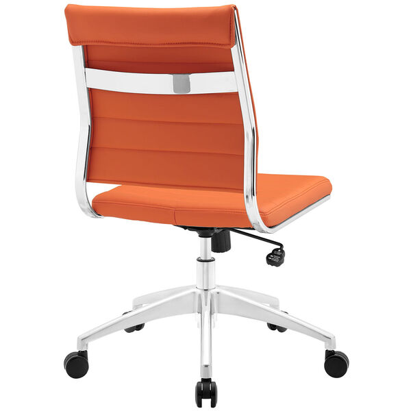 Jive Armless Mid Back Office Chair in Orange, image 4