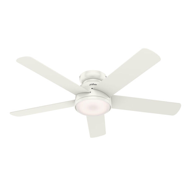 Romulus Low Profile Fresh White 54-Inch Smart LED Ceiling Fan, image 3