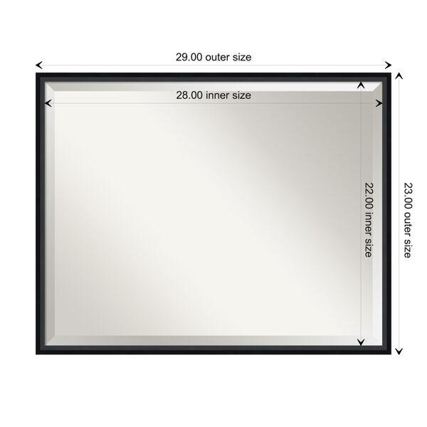 Lucie Black 29W X 23H-Inch Bathroom Vanity Wall Mirror, image 6