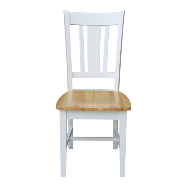 San Remo White Natural Chair, Set of Two, image 2