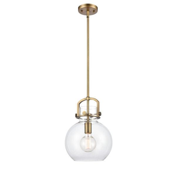 Newton Brushed Brass 13-Inch LED Pendant, image 1