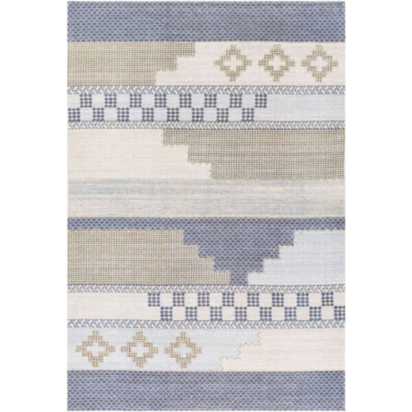 Didim Taupe and Teal Runner Rug, image 1