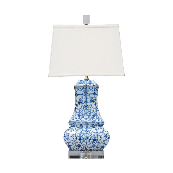 Porcelain Ware Blue and White 24-Inch One-Light Table Lamp, image 1