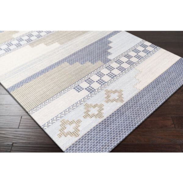 Didim Taupe and Teal Runner Rug, image 4