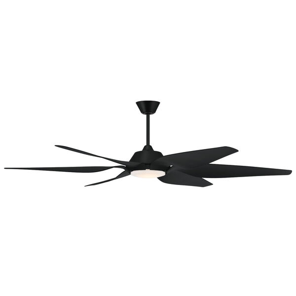 Zoom Flat Black 66-Inch One-Light Ceiling Fan, image 3
