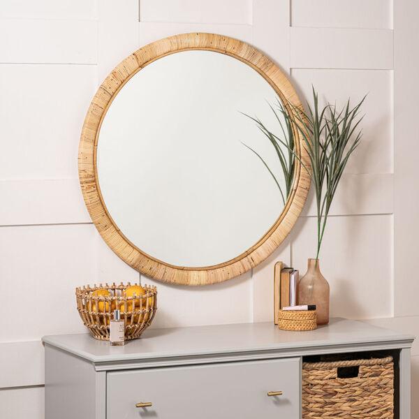 Blaise Natural Rattan 35-Inch x 35-Inch Wall Mirror, image 4