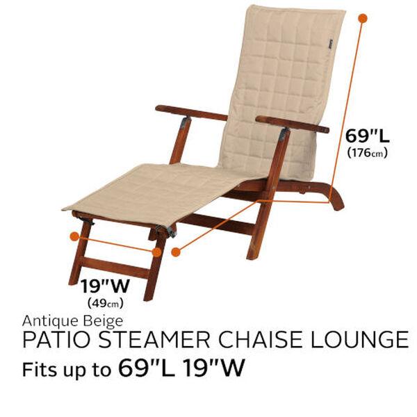 Oak Antique Beige Patio Steamer Chaise Cover, image 4