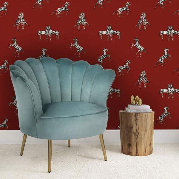 Novogratz Red Zebras in Love Love Peel and Stick Wallpaper, image 4