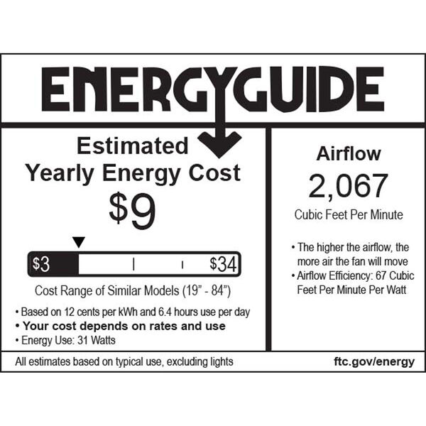 42-Inch Contractor White Ceiling Fan, image 2