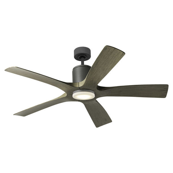 Aviator Graphite and Weathered Gray 54-Inch ADA LED Ceiling Fan, image 4