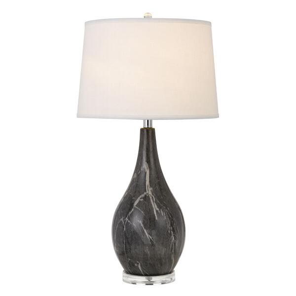 Emden Black and White One-Light Table lamp, image 3