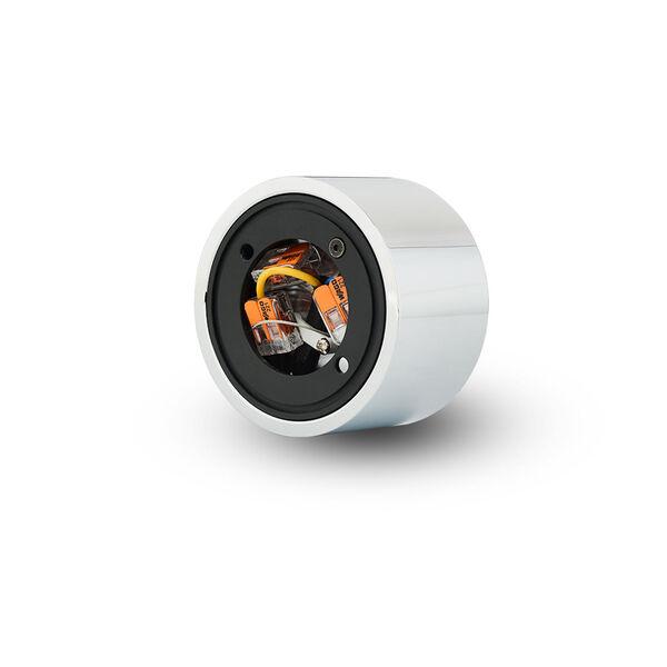 Node Polished Chrome 8W Round LED Flush Mounted Downlight, image 5