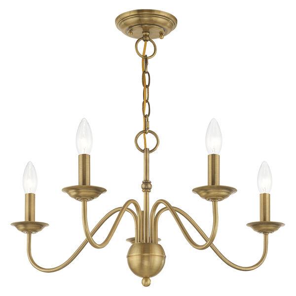 Windsor Antique Brass Five-Light Chandelier, image 4