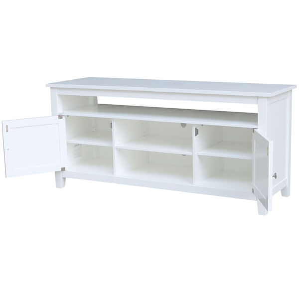 White 57-Inch TV Stand with Two Door, image 2