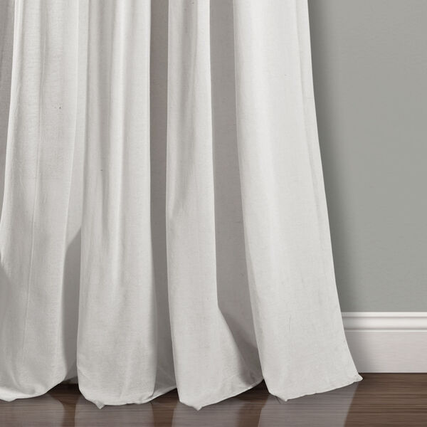 Linen Button Blue and Gray 40 x 108 In. Single Window Curtain Panel, image 4