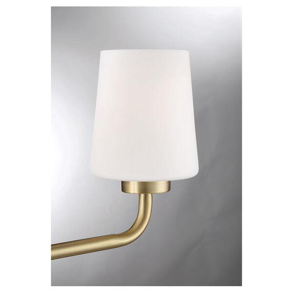 Capra Warm Brass Three-Light Bath Vanity, image 6