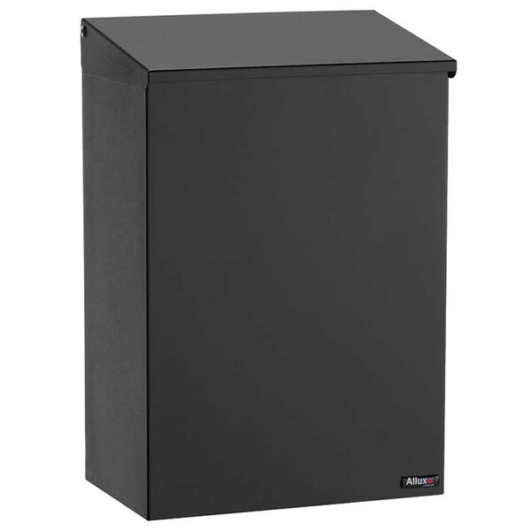 Allux 100 Black Top Loading Wall Mount Mailbox - (Open Box), image 1