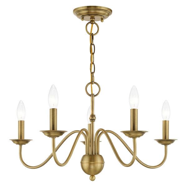 Windsor Antique Brass Five-Light Chandelier, image 3