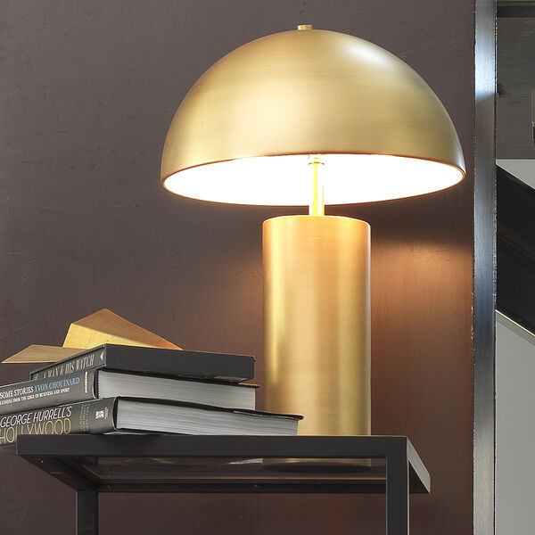 Cora Antique Brass Two-Light Table Lamp, image 3