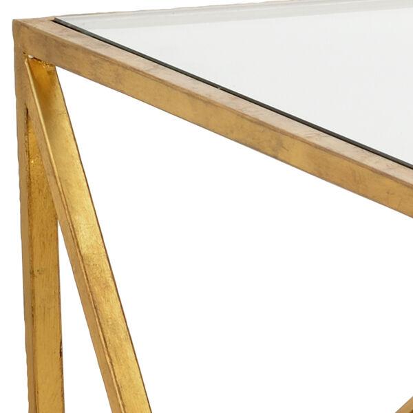 Jamie Merida Gold Glass Top Harlequin Coffee Table, image 2
