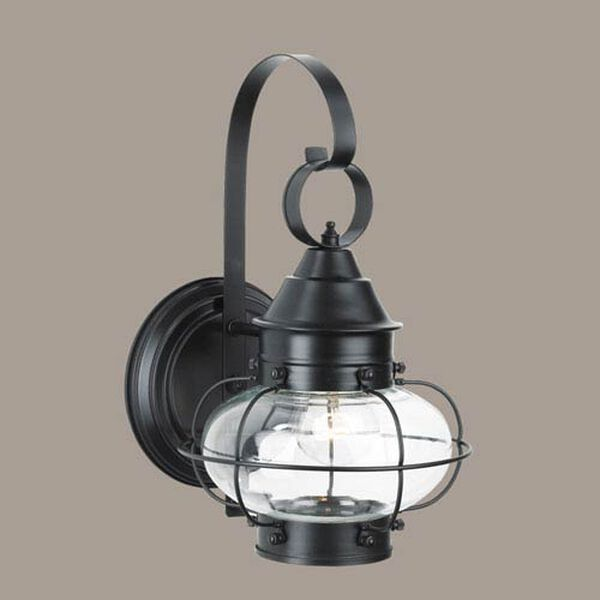 Cottage Onion Black Single Light Outdoor Small Wall Mount, image 1