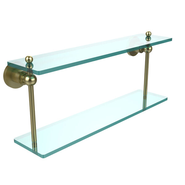 Satin Brass 22-Inch Double Shelf , image 1