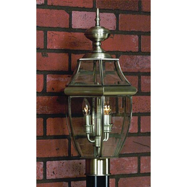 Newbury Pewter Outdoor Post-Mounted Lantern, image 1