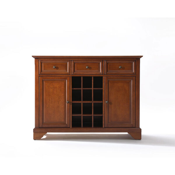 LaFayette Buffet Server / Sideboard Cabinet with Wine Storage in Classic Cherry Finish, image 1