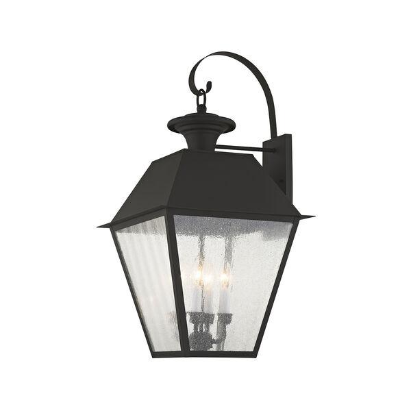 Mansfield Black Four-Light Outdoor Wall Lantern, image 1