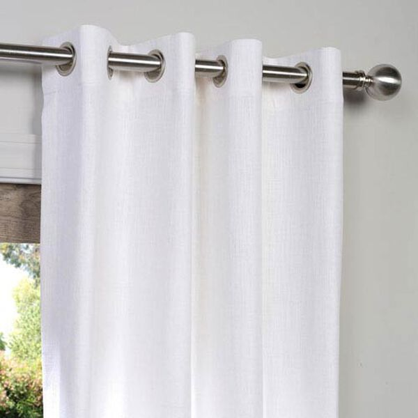White 108 x 50-Inch Grommet Curtain Single Panel, image 2