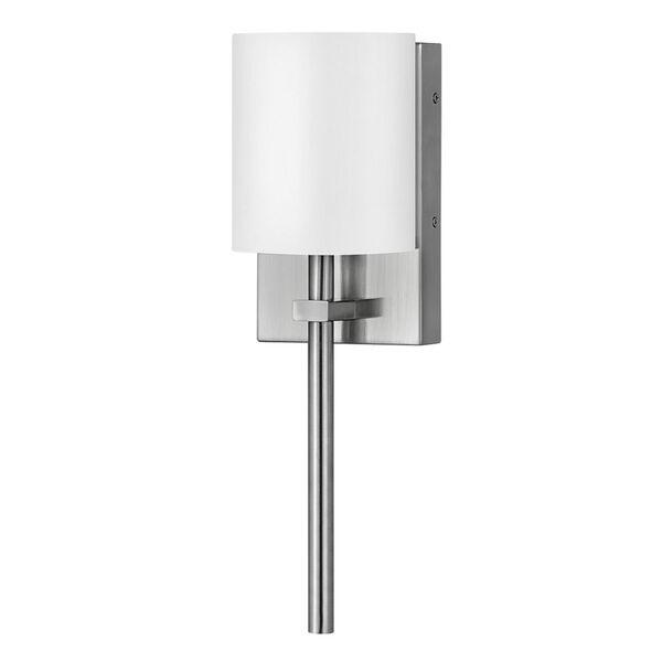 Avenue Brushed Nickel One-Light LED Wall Sconce with White Acrylic Shade, image 1