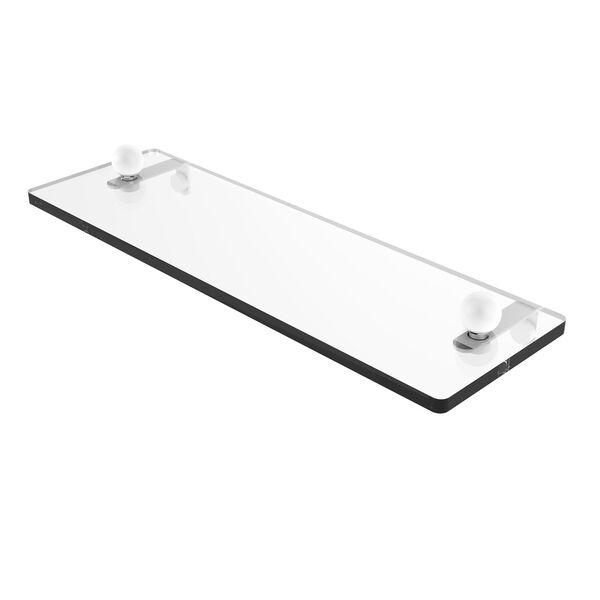 Prestige Regal Matte White 16-Inch Glass Vanity Shelf with Beveled Edges, image 1