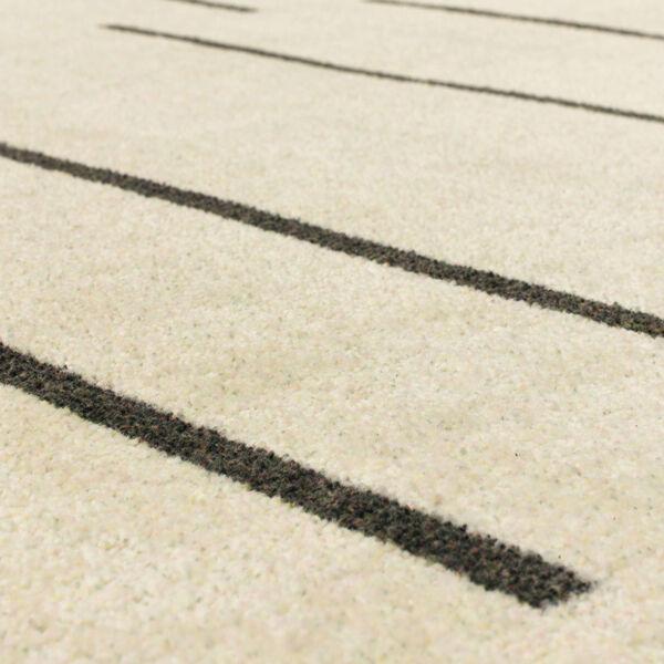 Kenza Ivory Linen Striped Rectangular: 2 Ft. x 3 Ft. Area Rug, image 6