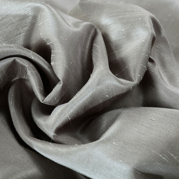 Silver Vintage Textured Faux Dupioni Silk Single Panel Curtain, 50 X 84, image 7