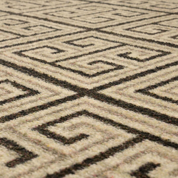 Meander Gray Charcoal Geometric Rectangular: 3 Ft. x 5 Ft. Area Rug, image 6