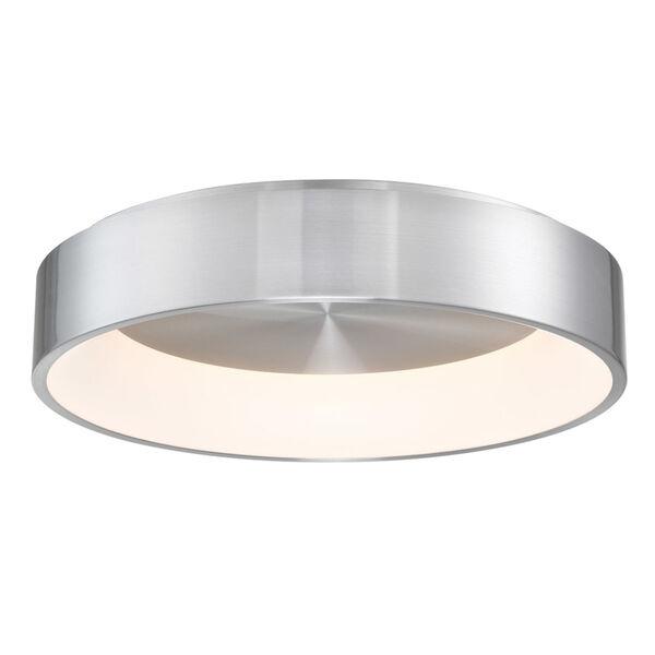 Corso Brushed Aluminum 23-Inch LED Flush Mount, image 1