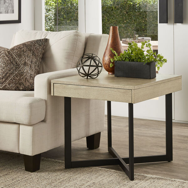 Hunter White End Table with One Drawer, image 5